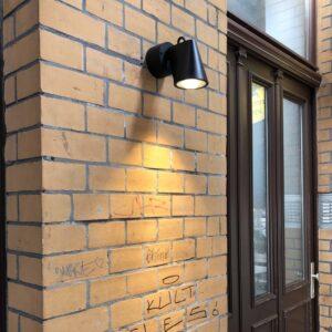 Moderner Wandstrahler für den Außenbereich