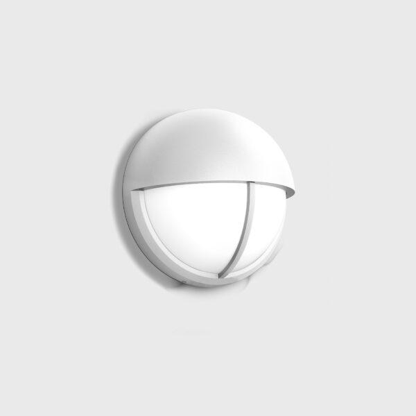 Weiße runde Außen Bewegungsmelderleuchte