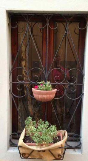 Altes Schmiedereisernes Fenstergitter