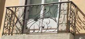 Französischer Balkon grau