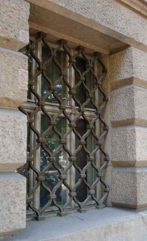 Massiv geschmiedetes Außen Fenstergitter