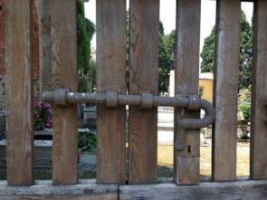 Riesen Antiker Stahl Torriegel