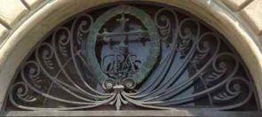kunstvolles antikes halbrundes Fenstergitter