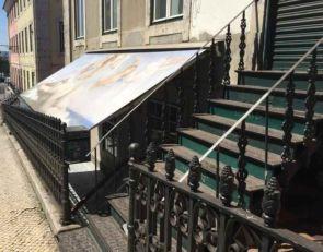 Stilvolles altes Geländer und Treppengeländer