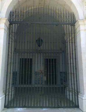 Historische Eingangssicherung schmiedeeisern