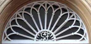 Fenstergitter geschmiedet halbrund in reinweiß